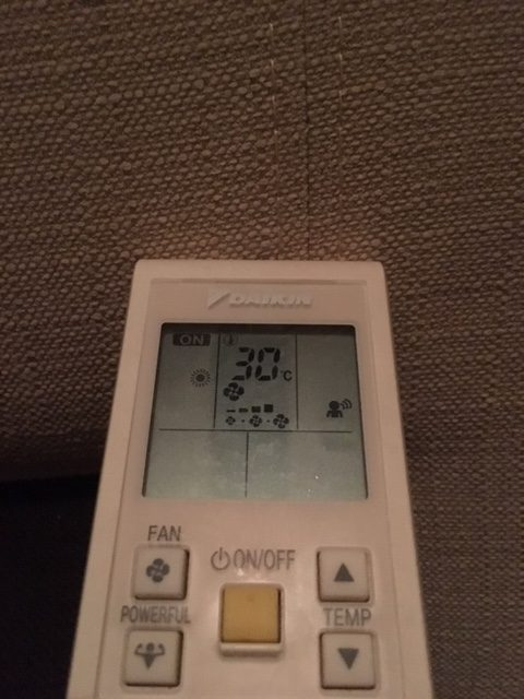 Settings to heat the apartment