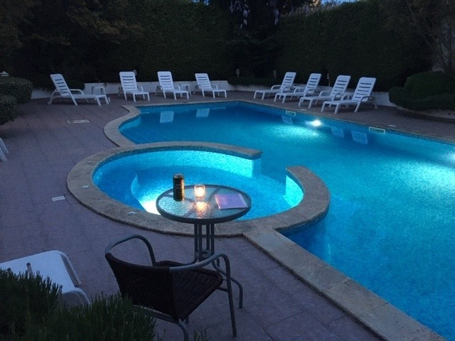 Evening beer by the pool