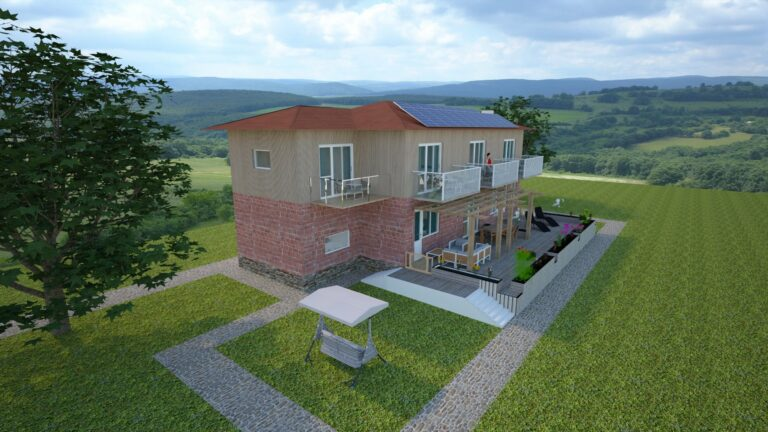 3D-View of Main House in Solnik